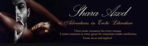 Shara Azod: Adventures in Literature Banner